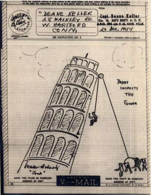 Deane Keller drawing - Leaning Tower of Pisa